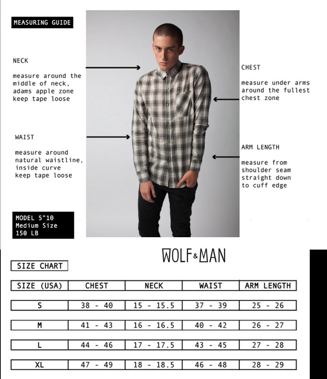Wolfandman-sizechart