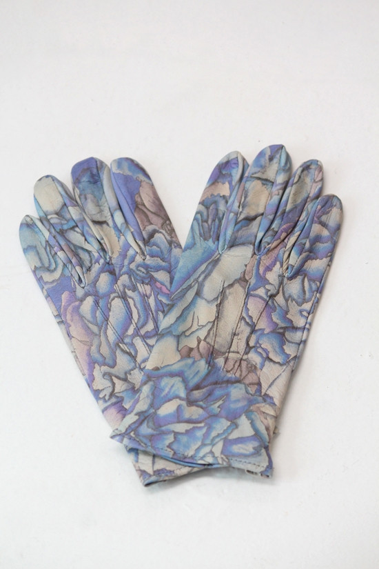 SWASH Leather Print Gloves