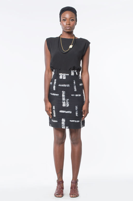 Osei-Duro Graphis Skirt in Matchstick