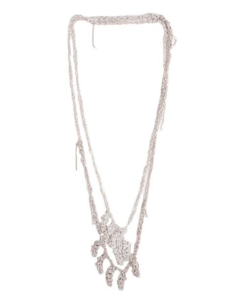 Arielle De Pinto Laurel Simple Necklace in Sterling Silver