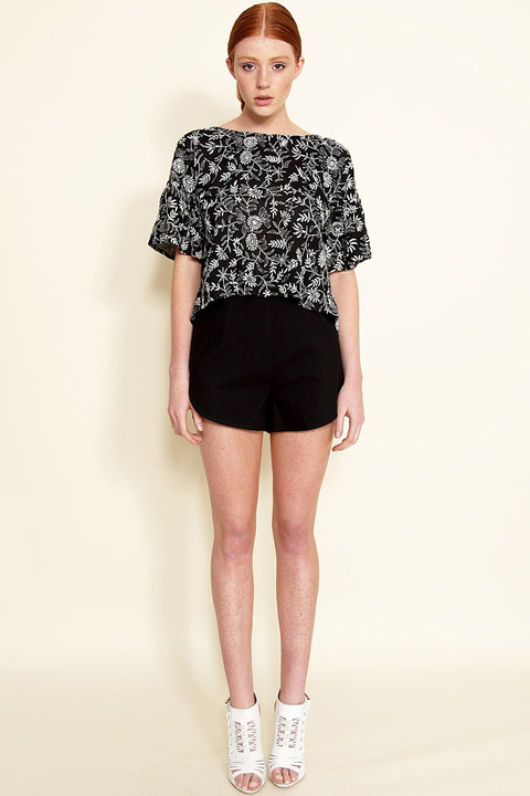 Samantha Pleet Leaf Shorts