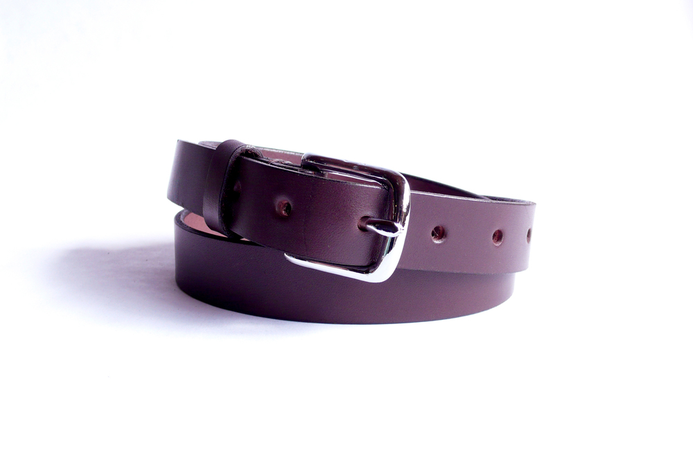barner 1 inch brown belt with silver buckle