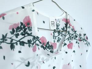 Rachel Rose Silk Vine Tee