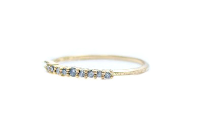 E.M. Pave Mini Grey Diamond Ring