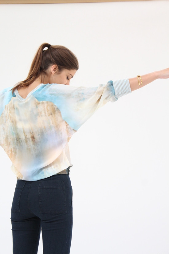 Hui Hui Supernova Silk Sweater