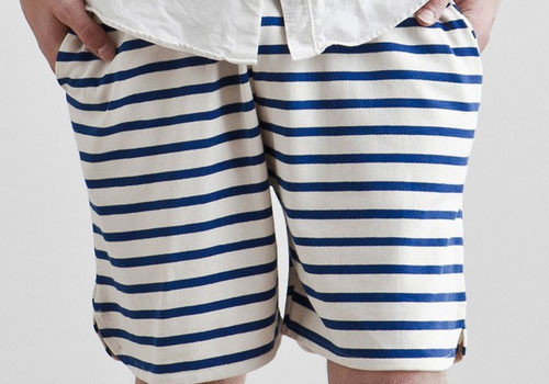Men's Etudes Iceberg Striped Shorts