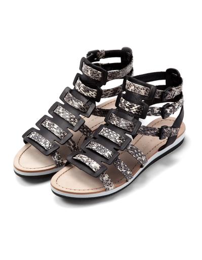 Elie Tahari Crete Snakeskin Gladiator Sandal