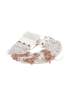 Arielle De Pinto Tunisian Row Bracelet in Sterling Silver + Rose Gold