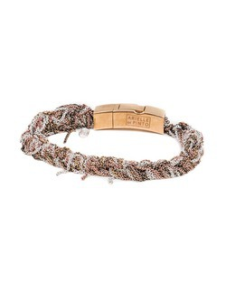 Arielle De Pinto Tennis Bracelet with Push Clasp in Yellow Gold, Rose Gold, and Sterling Silver