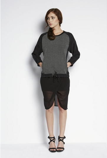 Shades of Grey by Micah Cohen Knit Combo Top