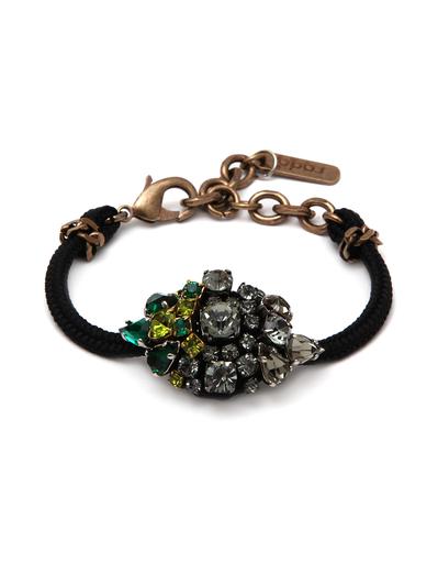 Rada Rhinestone Cabachon Cord Bracelet
