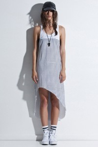 First Base Hi-lo Stripe Dress
