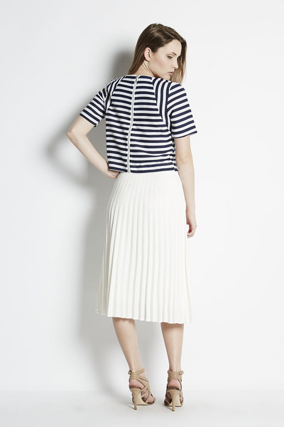 JOA Nautical Stripe Crop Top