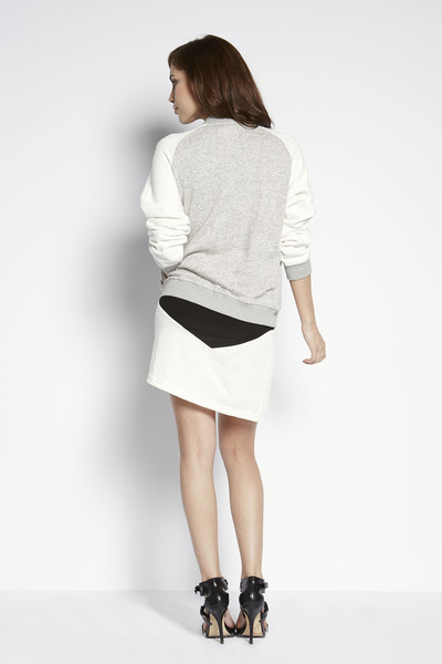 Shades of Grey by Micah Cohen Knit Bomber Jacket
