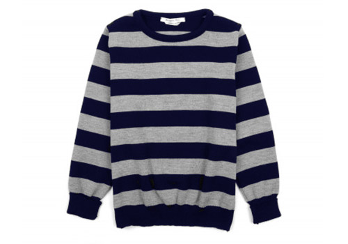 Bérangère Claire Heat Grey/Navy Stripes Sweaters