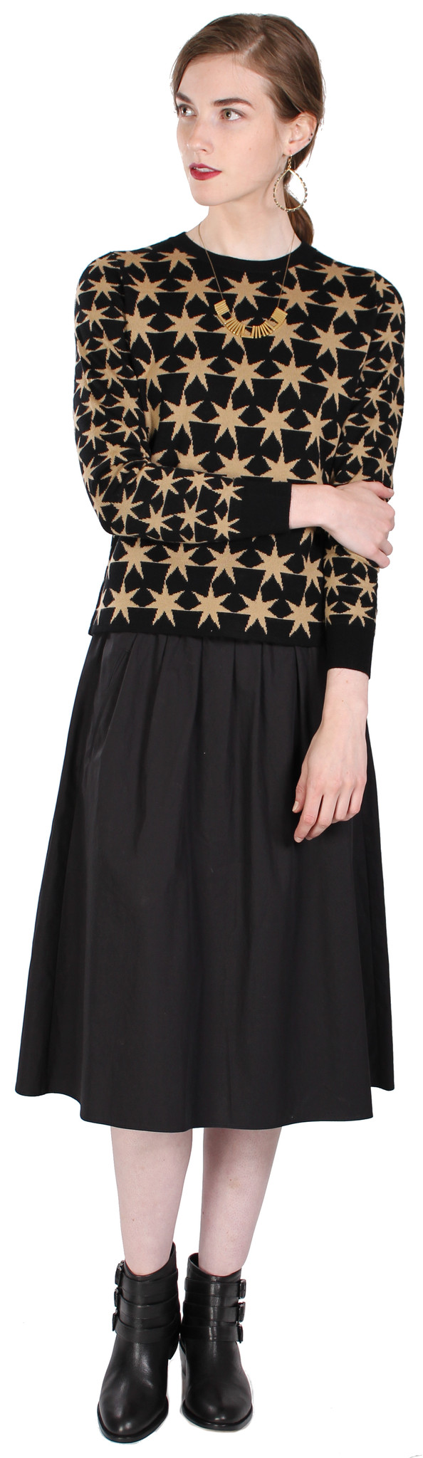 Sonia by Sonia Rykiel Jacquard Stars Sweater