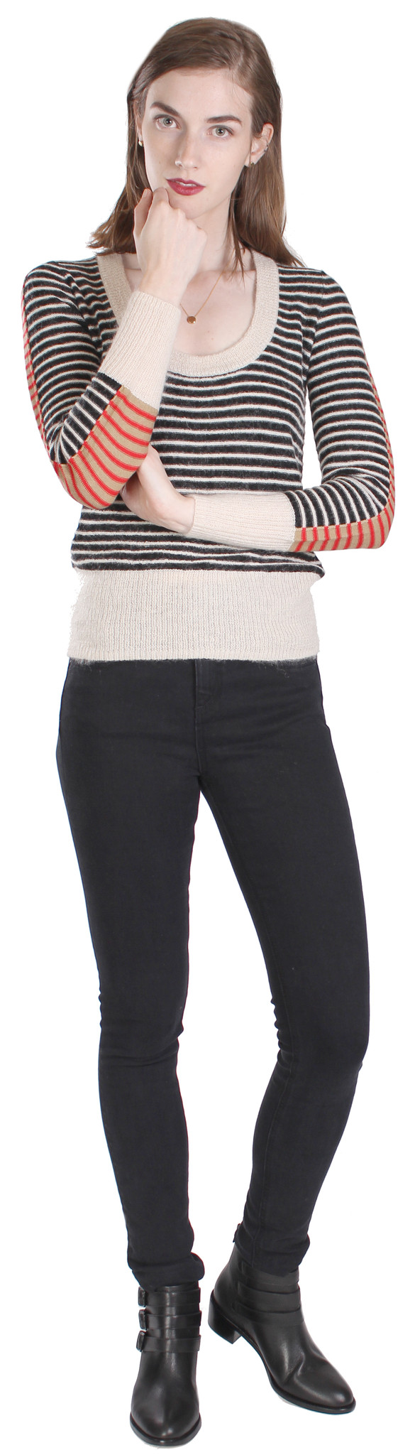 Sonia by Sonia Rykiel Mohair Stripe Sweater