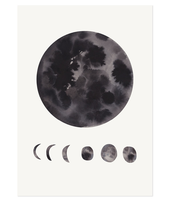 The Adventures Of... Phases of the Moon Print