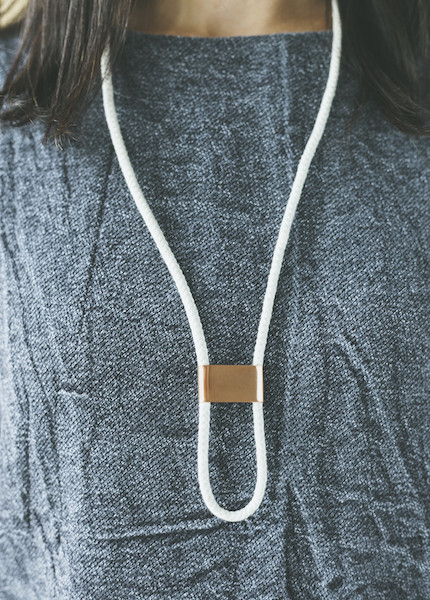 REIFhaus - Infinity Bolo Necklace in Natural