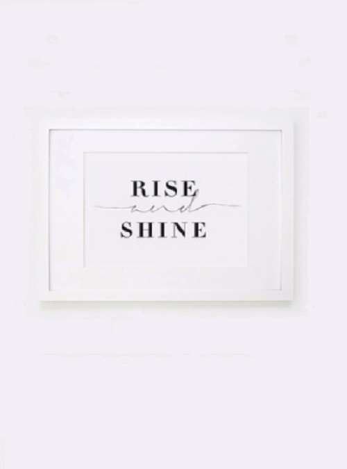 """Letters on Love """"Rise and Shine"""" Print"""