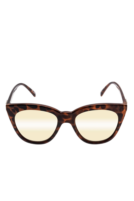 Le Specs Half Moon Magic Sunglasses- Tort