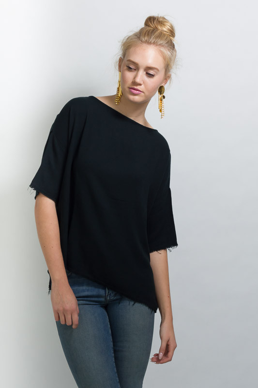 BLACK CRANE SQUARE TOP