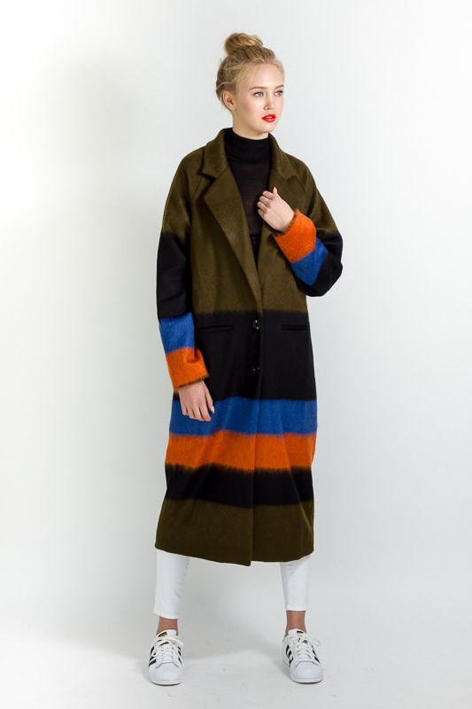 SUNO STRIPED COAT