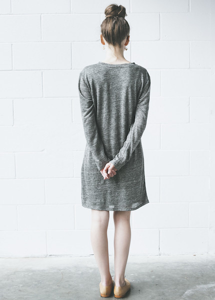 DolanLong Sleeve Knot Dress \ Dim