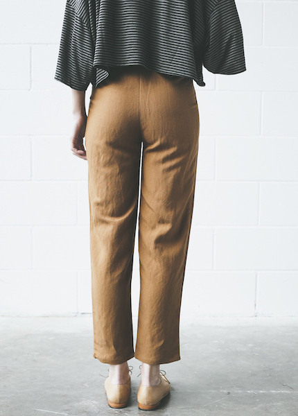 First Rite Ankle Trouser | Amber