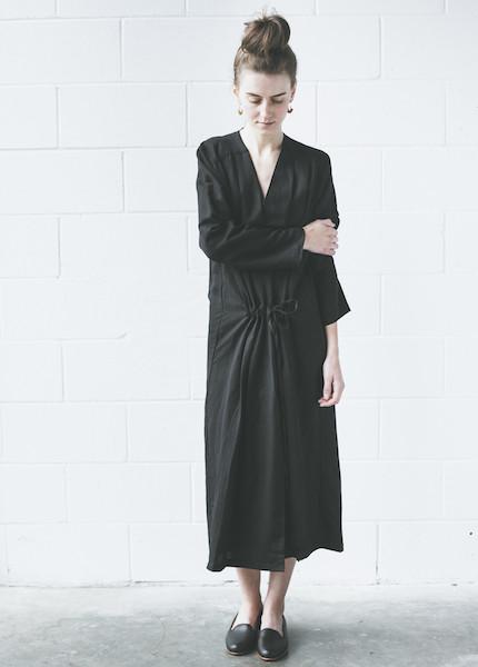 First Rite Coat Dress   Black