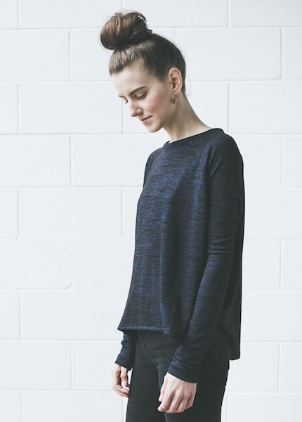 Rag & Bone Camden Long Sleeve Tee | Navy