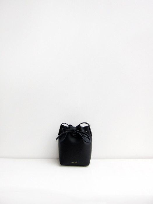 Mini Mini Bucket Bag, Black/Silver