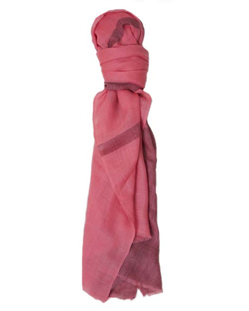 A Peace Treaty Thalia Scarf in Pink & Taupe Cashmere