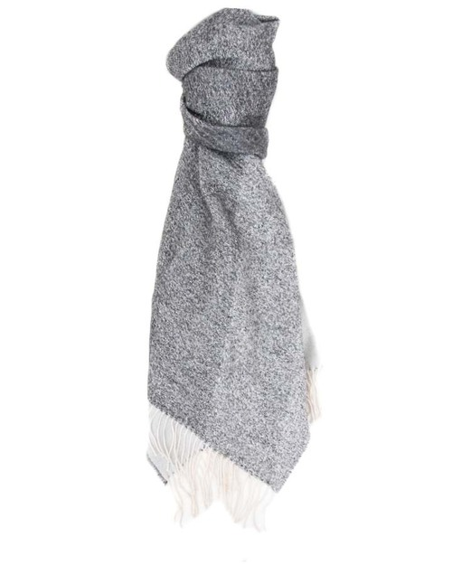 A Peace Treaty Handwoven Meda Scarf in Black & White