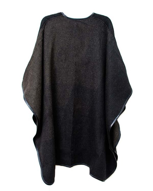 A Peace Treaty Handwoven Cocha Cape in Black and Surplus Green