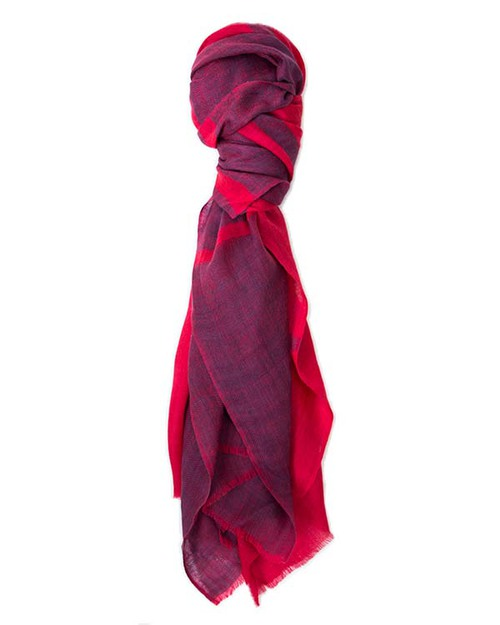 A Peace Treaty Edya Scarf in Navy & Red Cashmere