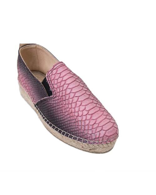Prism Espadrilles in Grey & Pink Snakeskin