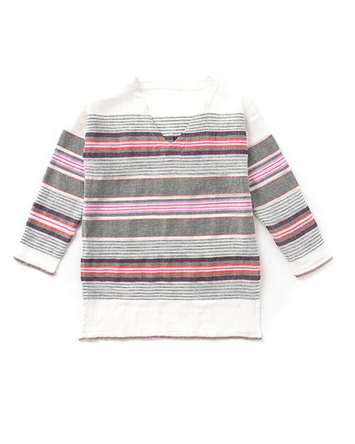 LemLem Aranya V Neck Tunic in Pink