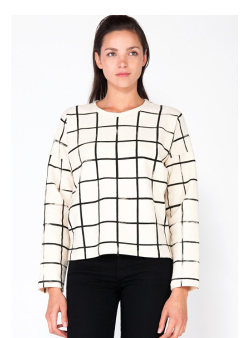 Make It Good Grid Canvas Sweatshirt