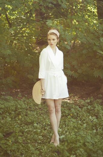Salua Atelier Flannel Bouquet Robe