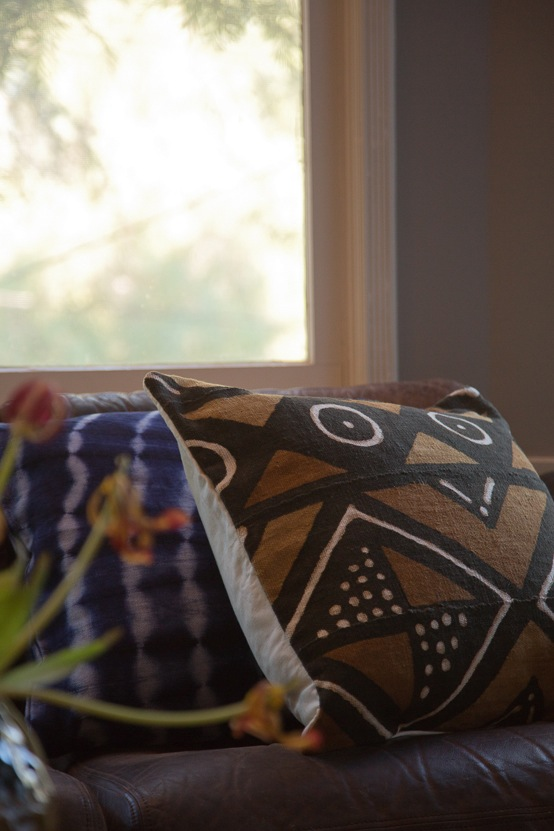 Osei Duro Mudcloth Pillow in Brown