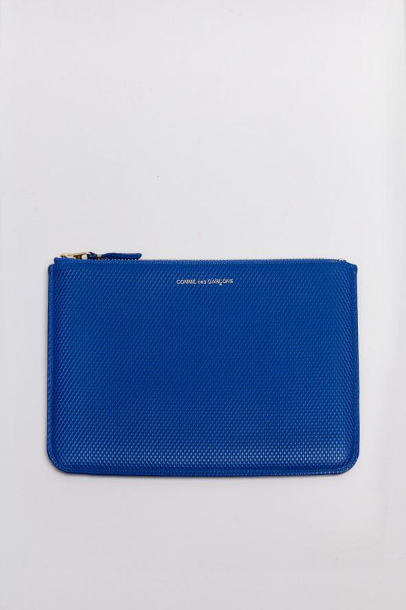 Comme des Garcons Luxury Blue Zip Pouch