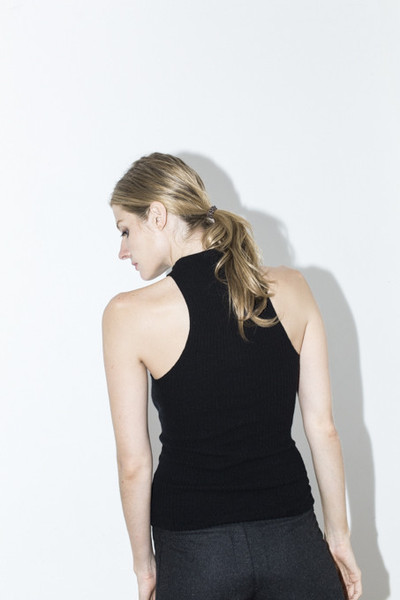Assembly New York Black Ribbed Tank