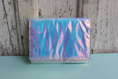 Zilla Iridescent Glossy Squared Clutch