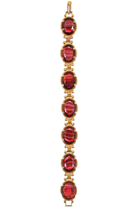 Mode Marteau Vintage Art Glass Bracelet