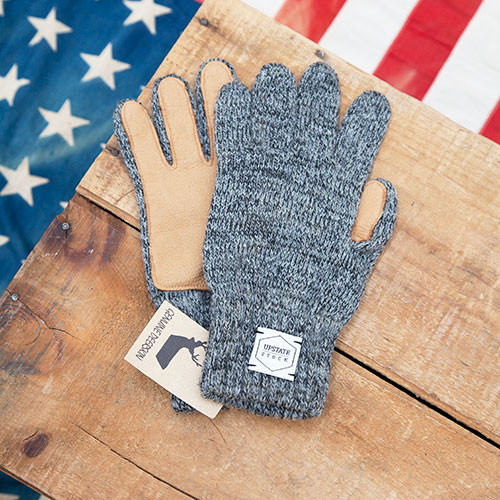 Men's Upstate Stock Deerskin Knit Glove