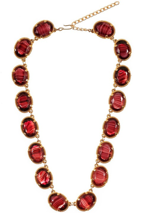 Mode Marteau Vintage Art Glass Necklace