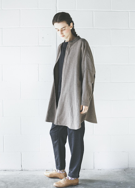 Black Crane Square Shirt | Coffee