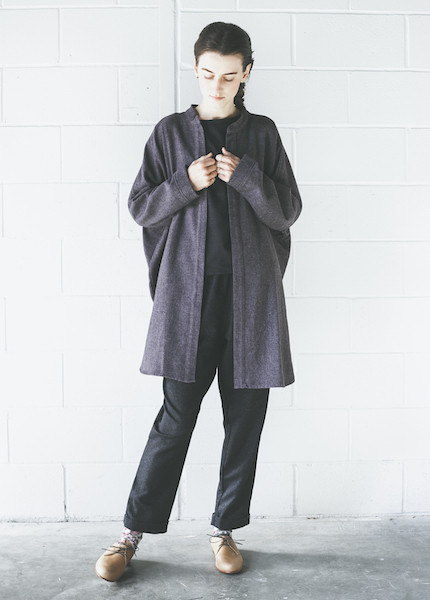 Black Crane Square Shirt | Purple