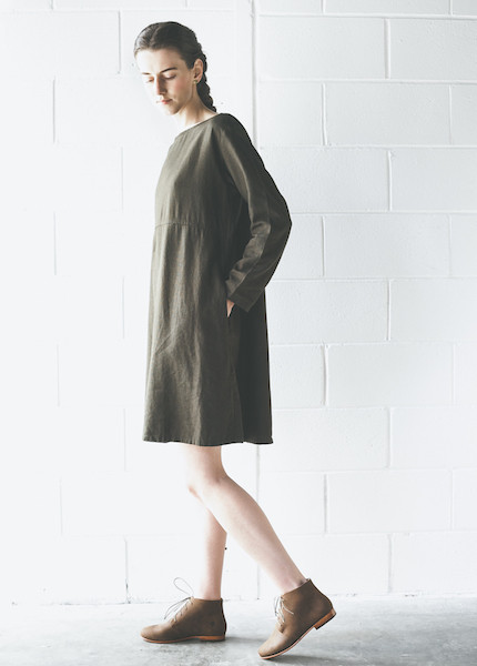 Me & Arrow  LS Basic Dress | Olive